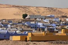 Het dorp van Nubian Royalty-vrije Stock Afbeeldingen