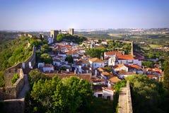 Het dorp van Obidos Stock Foto's