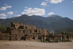 Het dorp van Pueblo van Taos Stock Fotografie
