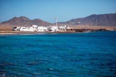 Het dorp van Puerto de la Cruz op Fuerteventura-eiland stock fotografie