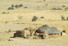 Het dorp van Rajasthani Royalty-vrije Stock Afbeelding