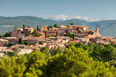 Het dorp van Roussillon in de Provence, Frankrijk royalty-vrije stock fotografie