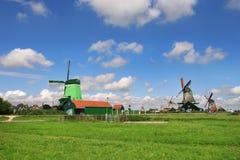 Het dorp van Schans van Zaanse. Nederland. stock fotografie