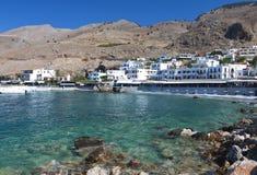 Het dorp van Sfakia bij het eiland van Kreta in Griekenland Royalty-vrije Stock Afbeelding