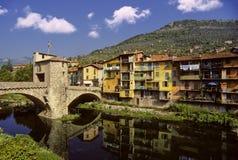 Het dorp van Sospel Stock Afbeelding