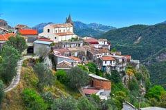 Het dorp van Staiti in de Provincie van Reggio Calabrië, Italië stock afbeelding