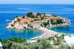 Het dorp van Sveti Stefan Royalty-vrije Stock Foto's