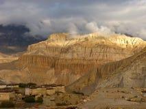 Het dorp van Tetang, Mustang stock foto