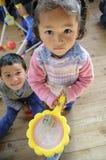 Het Dorp van Tibetan Kinderen royalty-vrije stock afbeelding