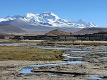 Het dorp van Tibtan Royalty-vrije Stock Foto's