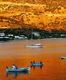 Het dorp van Vathy op eiland Sifnos Stock Foto