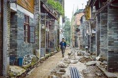 Het dorp van Xingping Stock Afbeeldingen