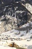 Het dorp van Zwitserland royalty-vrije stock afbeeldingen