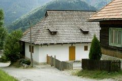 Het dorp Vlkolinec, Slowakije van Unesco Stock Fotografie