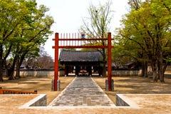 Het dorp Zuid-Korea van Hanok van Jeonju stock afbeelding