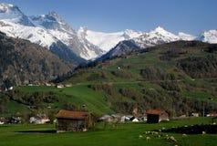 Het Dorp Zwitserland van de berg Royalty-vrije Stock Foto
