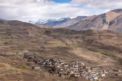 Het dorpsleven, himachal Spiti, Tibetaans, royalty-vrije stock fotografie
