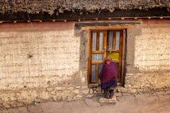 Het dorpsleven, himachal Spiti, Tibetaans, royalty-vrije stock foto