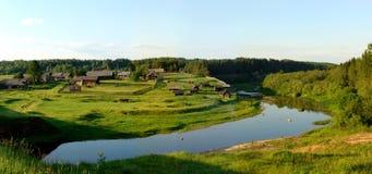 Het dorpspanorama 2 van het noorden Stock Fotografie