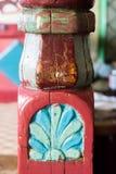 Het Dorpsruimten van Gumushanesaricicek, een populair huis voor zijn houten decoratie stock fotografie