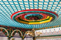Het Dorpsruimten van Gumushanesaricicek, een populair huis voor zijn houten decoratie royalty-vrije stock afbeeldingen