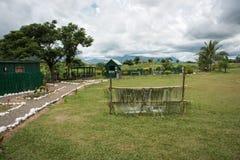 Het Dorpsscène van Fiji royalty-vrije stock foto's