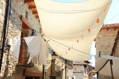 Het dorpsTeruel van Puertomingalvo provincie Aragon SP Stock Foto