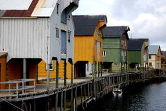 Het dorpswaterkant van de visserij Royalty-vrije Stock Foto