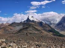 Het dorre landschap dichtbij Cerro solo stock foto's