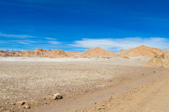 Het dorre landschap van de Atacamawoestijn stock afbeelding