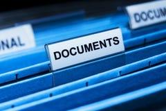 Het Dossier van documenten Stock Foto