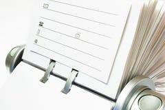 Het Dossier van het Adreskaartje stock foto's