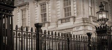 Het Downing Street van nr 10 Stock Foto