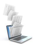 Het downloaden van documenten. vector illustratie