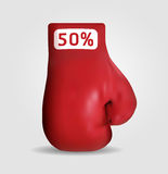 Het in dozen doen dag het winkelen creatief verkoopidee/   Stock Fotografie