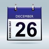 Het in dozen doen het blauw van de dagkalender Stock Foto