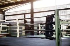 Het in dozen doen Ring Arena Stadium Fighting Competitive Sportconcept royalty-vrije stock foto's