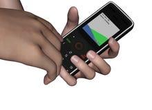 Het draaien Celtelefoon Stock Foto