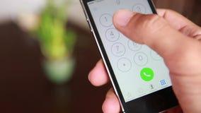 Het draaien 911 Noodsituatietelefoon Cal stock footage
