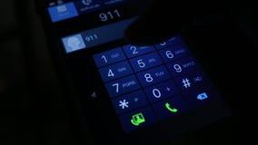 Het draaien 911 NoodsituatieTelefoongesprek stock footage