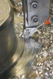 Het Draaien van de draaibank Roestvrij staal Stock Foto