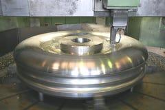 Het Draaien van de draaibank Roestvrij staal Royalty-vrije Stock Afbeeldingen