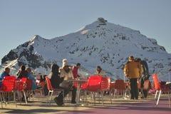 Het draaiende restaurant van Pizgloria op een de winterdag Royalty-vrije Stock Fotografie