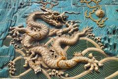 Het draakbeeldhouwwerk royalty-vrije stock afbeelding
