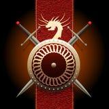 Het Draakschild Royalty-vrije Stock Afbeeldingen