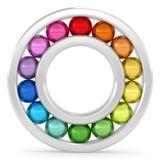 het dragen met kleurrijke ballen Stock Afbeeldingen