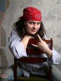 Het dragen van bandana Royalty-vrije Stock Foto's