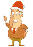 Het dragen van de hoed van de Kerstman Royalty-vrije Stock Afbeelding