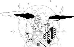 Het dragen van de Kerstman Kerstmis stelt voor Royalty-vrije Stock Afbeelding