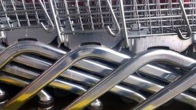 Het dragende voedsel van het supermarktkarretje, Royalty-vrije Stock Foto